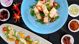 Spicy hot yam salad in Hua Hin